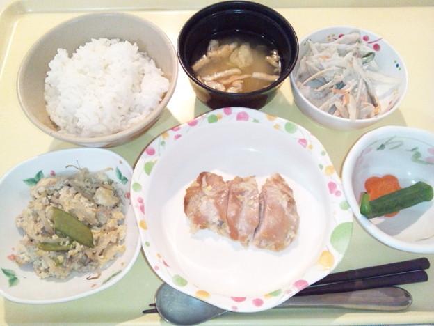 3月24日夕食(鶏肉の塩麹焼き) #病院食
