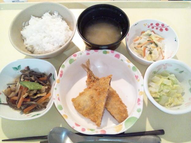 3月25日夕食(アジフライ) #病院食