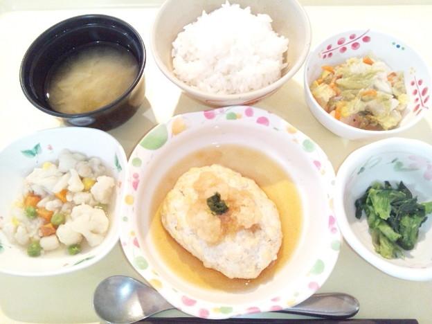 4月24日夕食(豆腐ハンバーグ) #病院食