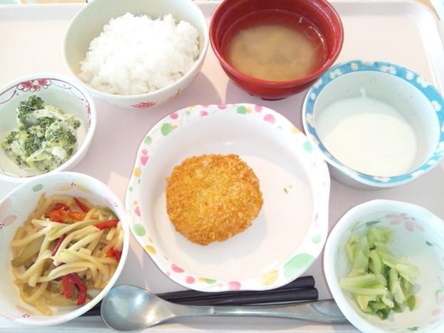 5月14日昼食(メンチカツ) #病院食