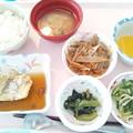 Photos: 5月19日昼食(鰆の黄金煮) #病院食