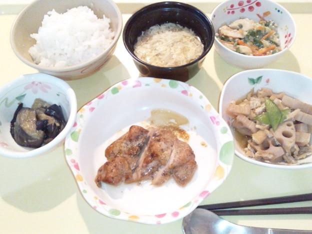 5月20日夕食(鶏肉の山椒焼き) #病院食