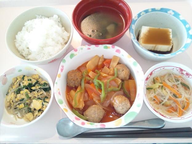 7月16日昼食(肉団子の酢豚風) #病院食