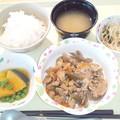 8月13日夕食(豚肉のスタミナ炒め) #病院食