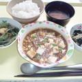 Photos: 8月18日夕食(麻婆豆腐) #病院食