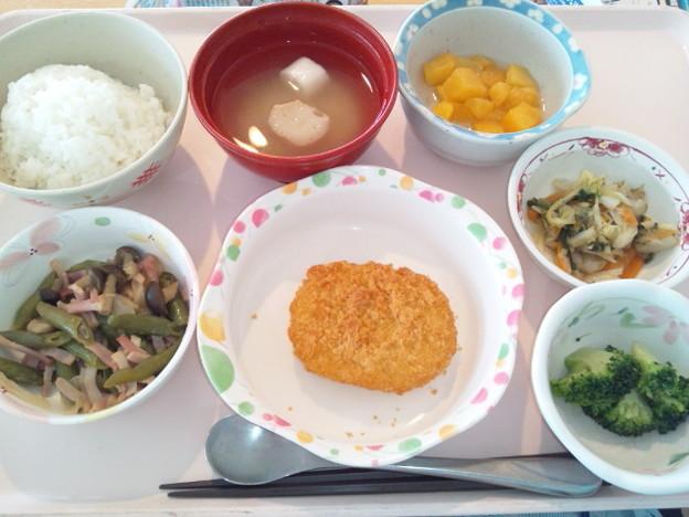 8月20日昼食(コロッケ) #病院食