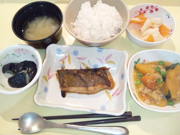 Photos: 8月21日夕食(カレイの薬味焼き) #病院食