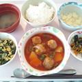 8月23日昼食(肉団子の酢豚風) #病院食