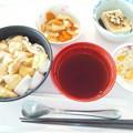 8月24日昼食(鶏南蛮うどん) #病院食