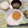8月24日夕食(メンチカツ) #病院食