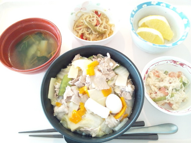 8月25日昼食(中華丼) #病院食