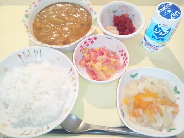 9月10日夕食(チキンカレー) #病院食