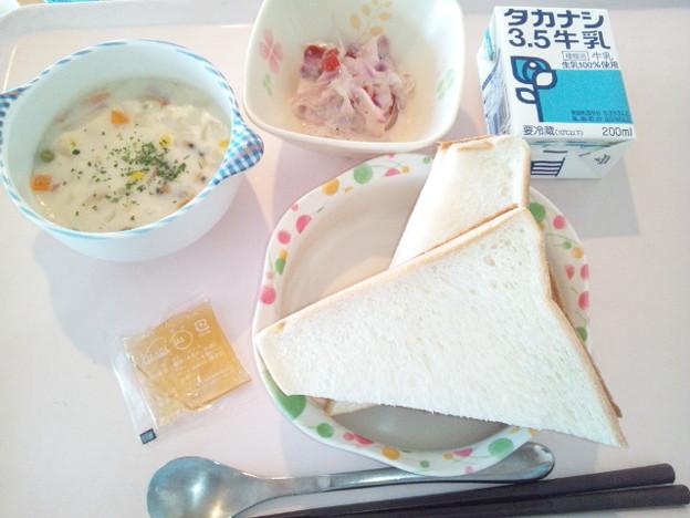 9月12日朝食(あさりとじゃがいものクリーム煮) #病院食