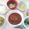 9月12日昼食(ハンバーグ) #病院食