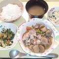 9月13日夕食(鶏肉とごぼうの甘辛煮) #病院食