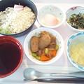 9月16日昼食(冷やし月見そば) #病院食
