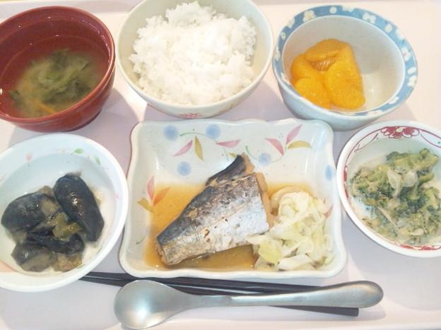 9月18日昼食(鰆の煮付け) #病院食