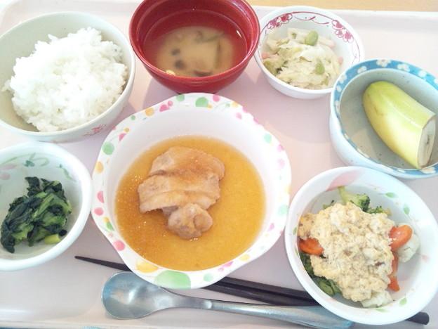 9月19日昼食(鶏のみぞれ煮) #病院食