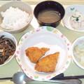 9月19日夕食(白身魚フライ) #病院食