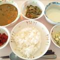 9月20日昼食(茄子とひき肉のカレーライス) #病院食