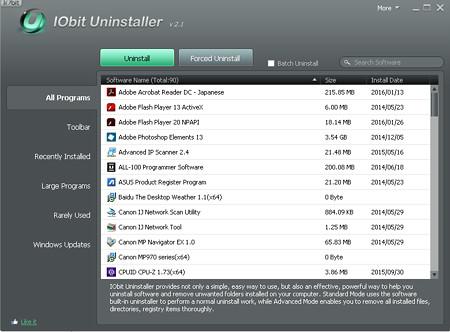 IObit Uninstaller v2.1
