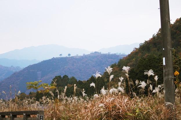 写真: 立雲峡から竹田城