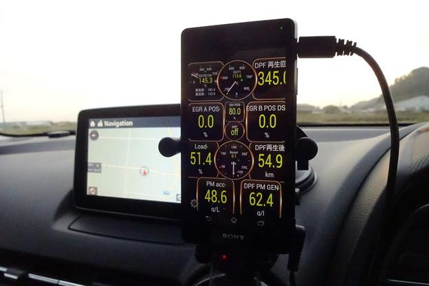 写真: 最近のデミオXDのDPF監視画面
