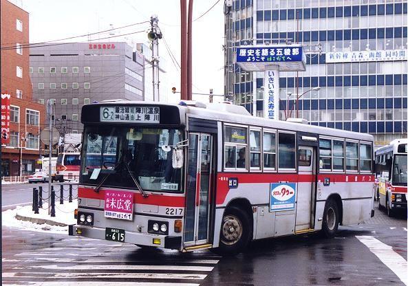 15年前の上陣川へ向け函館駅前