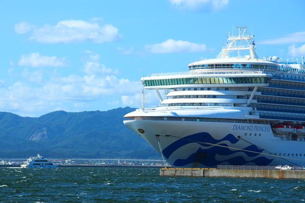 『Diamond Princess』&『観光遊覧船ブルームーン』コラボ写真