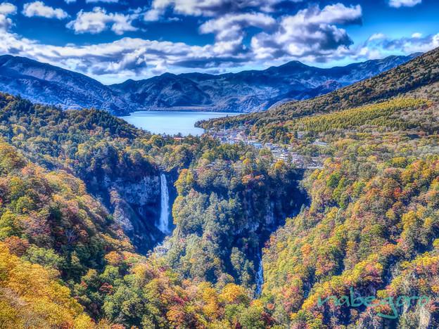 明知平から中禅寺湖を望む