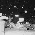 写真: 大雪の夜