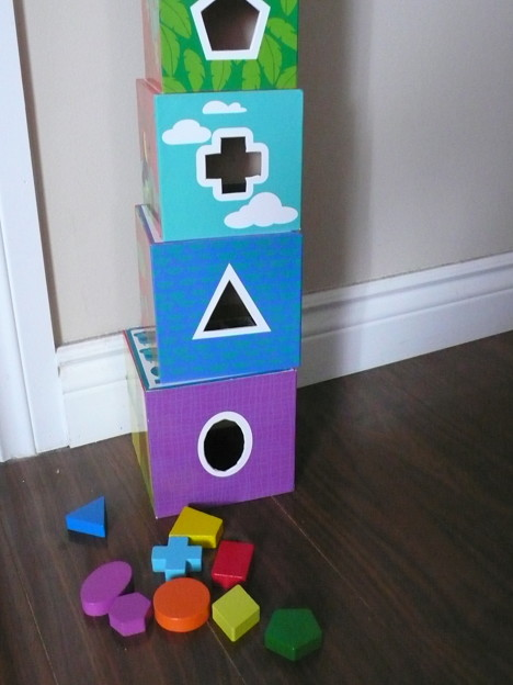 4. Shape Sorter, PIle up, Matching picture $5