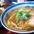 写真: 【今日の昼飯】岡山市北区京橋町の、おりいぶ ラーメンと、日替り定食用のからあげ単品。 麺はデフォで柔らか目。 豚ベースに野菜の甘みと旨みが入り優しい味に。
