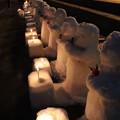 写真: 雪地蔵