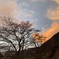 写真: 雨上がり 丹波山の夕暮れ