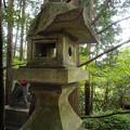 Photos: 朝日稲荷神社_石灯籠_一刀両断-9208
