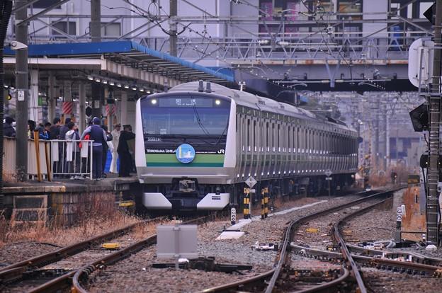 JR東日本 横浜線に投入された25年ぶりE233系6000番台披露・・20140202