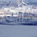 米軍施設瑞穂埠頭停泊中。。補給艦ましゅう。。横浜ノースドック 10月11日