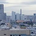 ヨコハママリンタワーからの眺め。。みなとみらいランドマークタワー。。10月11日