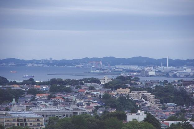 ヨコハママリンタワーからの横須賀を。。10月11日