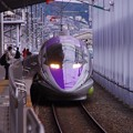Photos: 撮って出し。。下り博多行きこだま。。エヴァンゲリオン仕様500系。。小倉駅11番線へ 11月21日