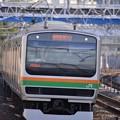 ここで新型を狙う。。撮って出し練習でE231系湘南新宿ライン 11月29日