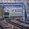 撮って出し。。横須賀線を走る山手線新型車両E235系 保土ヶ谷駅 11月29日