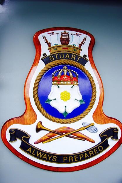 オーストラリア海軍フリゲート艦スチュアートへ。。観艦式前日一般公開10月17日