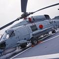 Photos: オーストラリア海軍スチュアートに搭載されていた対潜ヘリS-70B-2シーホーク。。観艦式前日一般公開