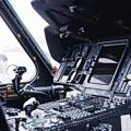 Photos: オーストラリア海軍スチュアートに搭載されていた対潜ヘリS-70B-2シーホークのコックピット操縦系。。10月17日