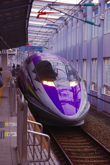 小倉駅ホームへ進入。。500系typeEVA 20151121
