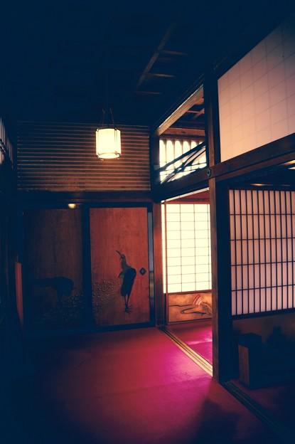 昔の豪邸の赤い床。。江戸東京たてもの園 20160313