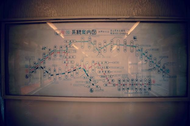 昔走っていた都電の系統路線図・・江戸東京たてもの園 20160313