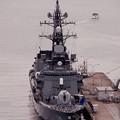 軍港めぐりの船と護衛艦たかなみ。。20160320